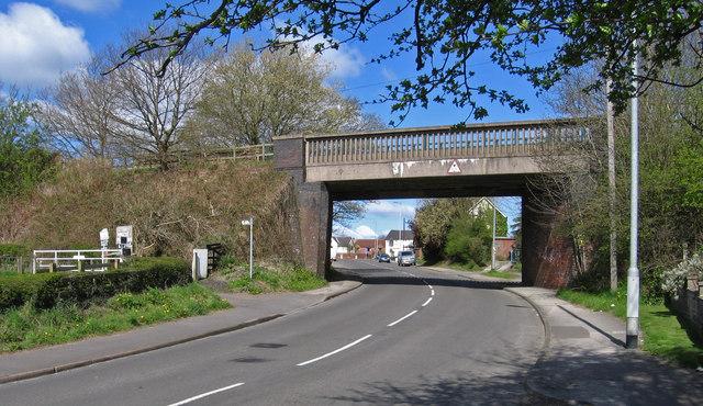 Teversal - former railway bridge over Fackley Road