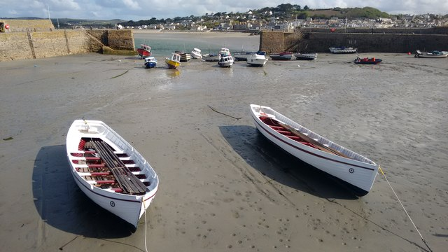 Historic boats at St Michael's Mount