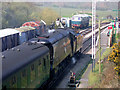 SY9582 : Swanage Railway, 2002 - train arriving at Norden by Robin Webster