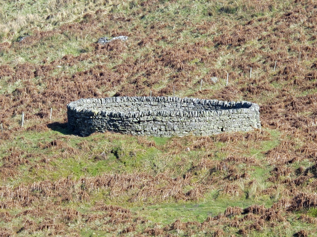 Sheepfold above the glacial meltwater channel