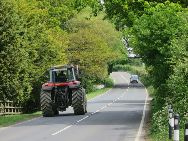 Tractor on A28