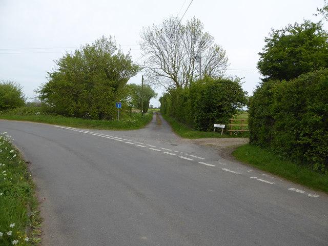 The lane to Greenwood Farm