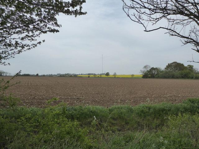 Ploughed field near Mickfield Meadow
