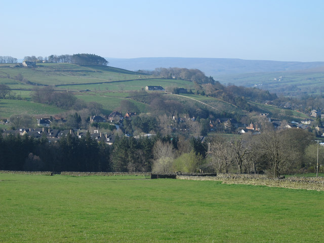 Farmland above Allendale Town