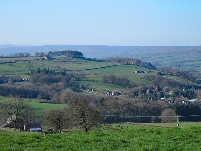 Farmland below Moorhouse Gate