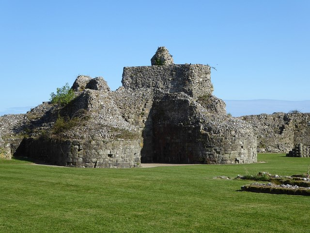Pevensey Castle - Remains of the keep