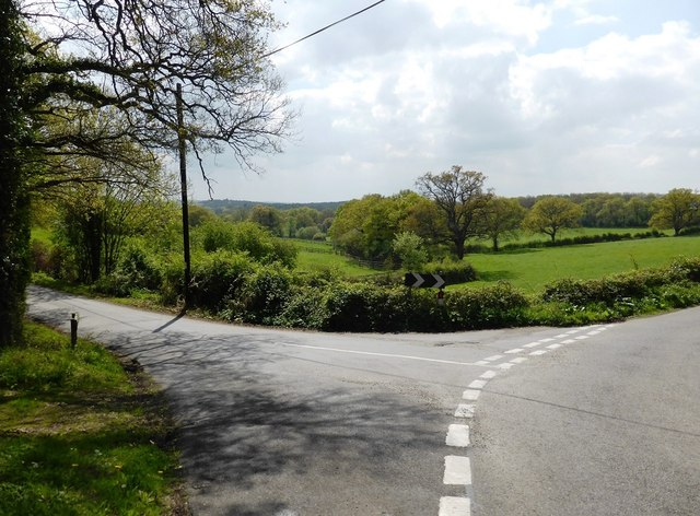 Junction of High Thicket Road and Old Lane