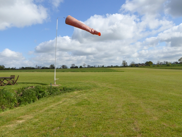 Windsock at Monewden Airfield