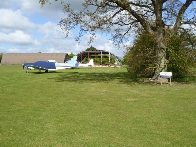Light aircraft at Monewden Airfield