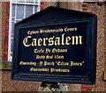 SJ2472 : Information board outside Caersalem, Flint by Jaggery
