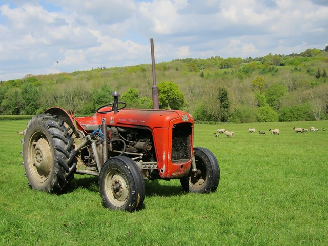 Massey Ferguson near Bardown Farm