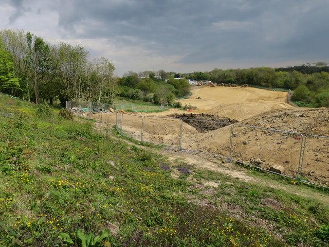 Baldslow Interchange construction
