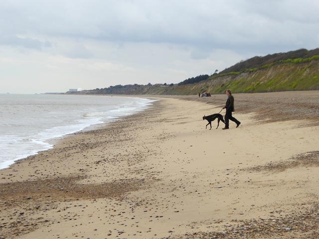 Dunwich beach looking south