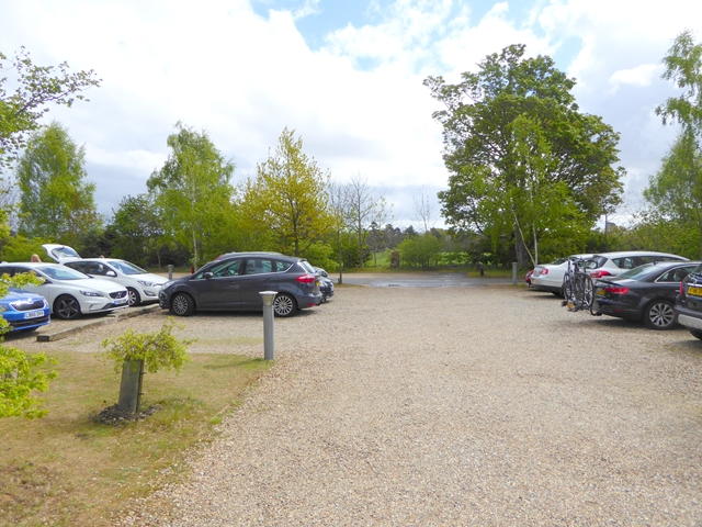 The car park at Sutton Hoo