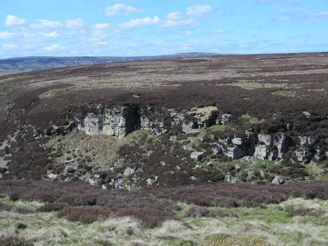 Cliffs along the cleugh of Sipton Sike