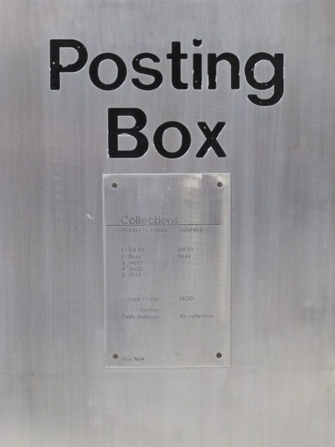 Non-standard postbox, Newcastle Central station - detail