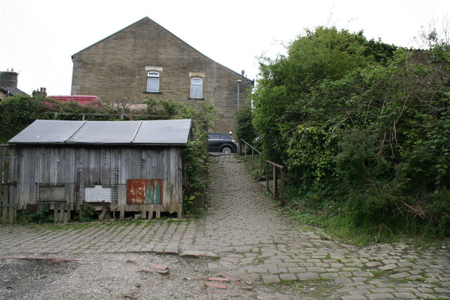 Barnoldswick: A very old cobbled path