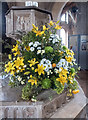 TF9839 : Flowers in Church Interior at Binham Priory, Norfolk by Christine Matthews