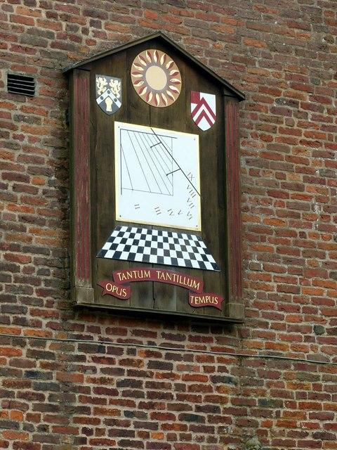 Gawsworth Hall, south wing sundial