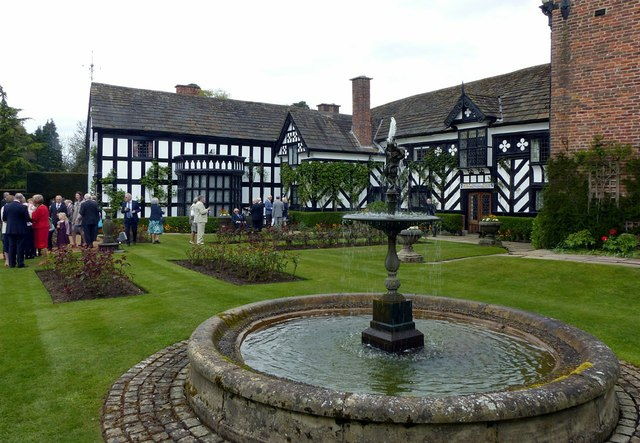 Gawsworth Hall, garden front