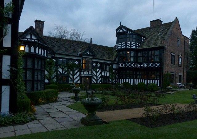 Gawsworth Hall, garden front