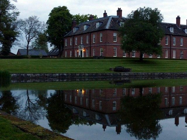 Gawsworth New Hall at dusk