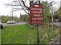 SE0335 : KWVR - car park sign at Oxenhope by Stephen Craven