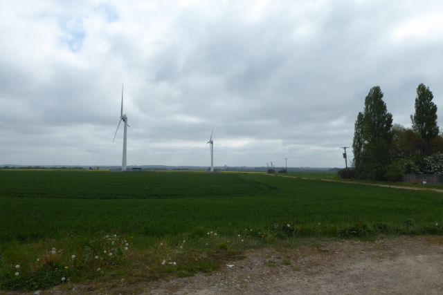 Wind turbines off High Street
