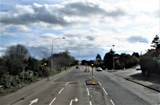 The North Road junction on the Bangor Road (A21) in the NE suburbs of Newtownards