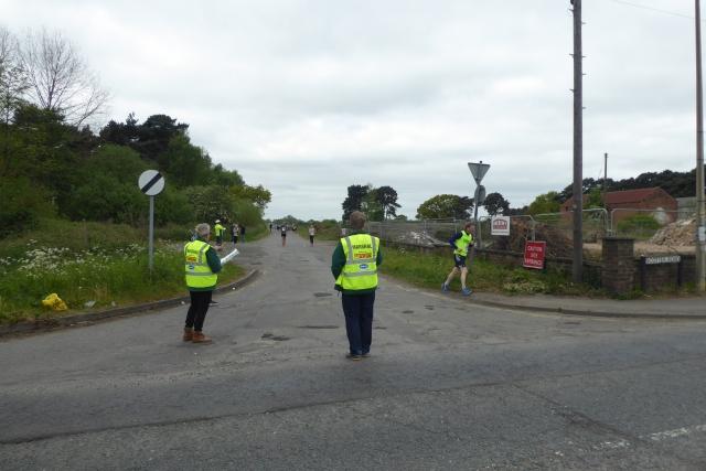 Marshals on the North Lincolnshire Half Marathon