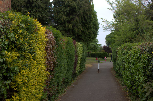 Path to recreation ground