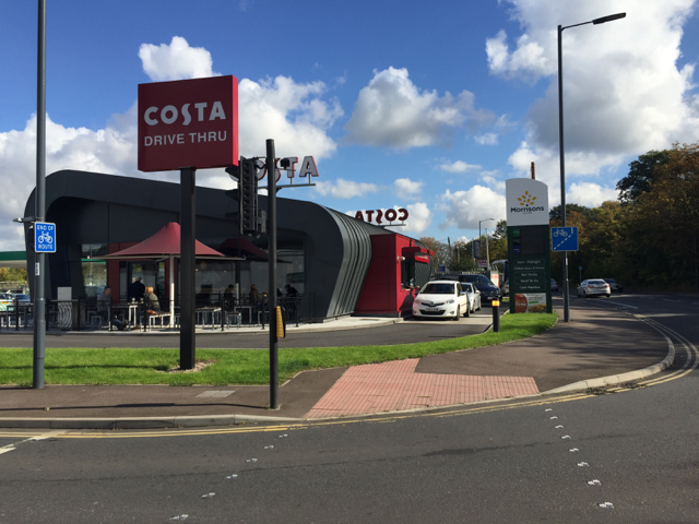 Costa Drive Thru adjacent to Morrisons, Old Warwick Road, Leamington