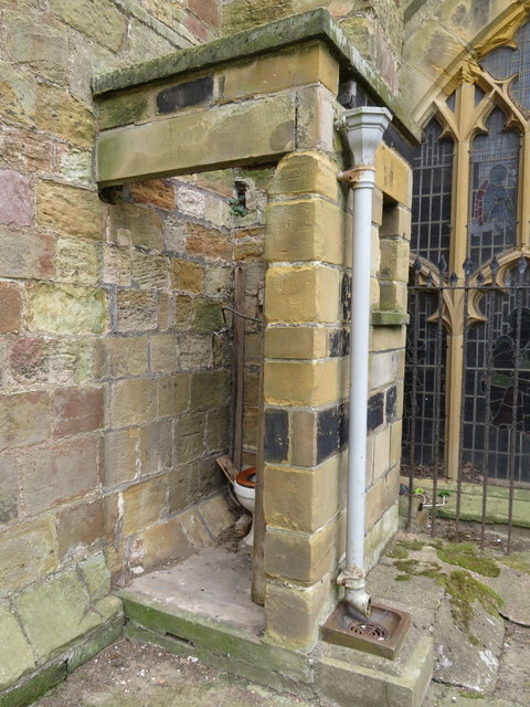 Outside toilet on St Mary's church, Scarborough