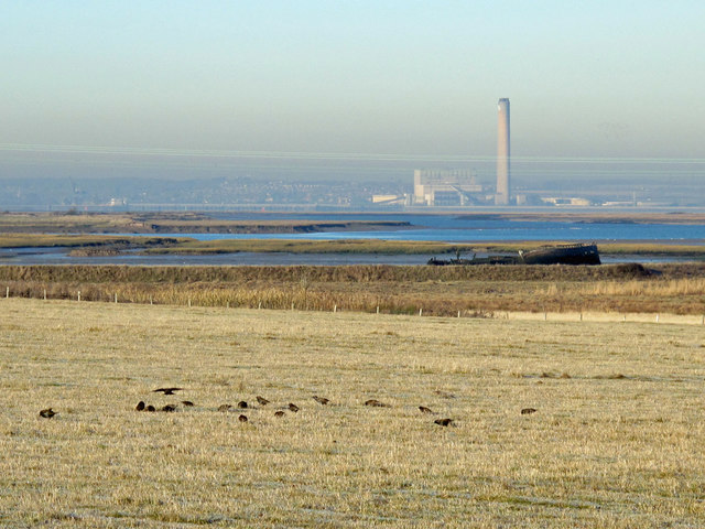 Farmland east of Bedlams Bottom
