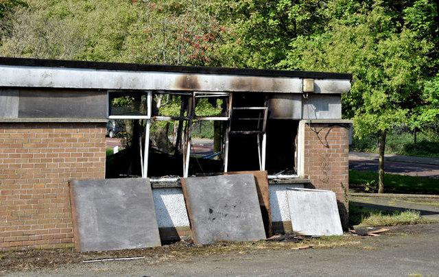 Former Joss Cardwell Centre (fire damage), Belfast - May 2017(2)