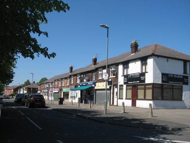 Shops, Warrington Road