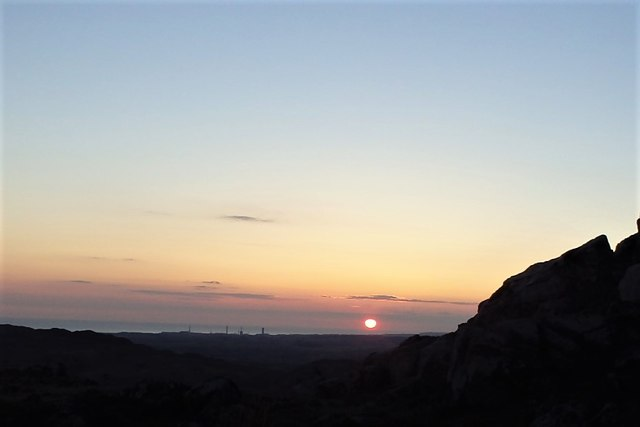 Sunset and Sellafield