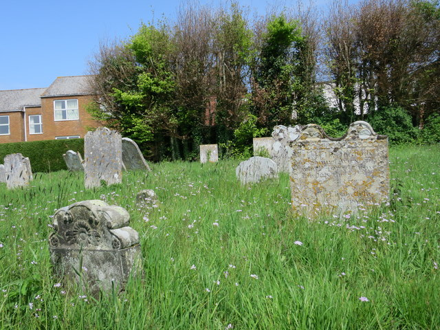 Gravestones by St Peter's Church