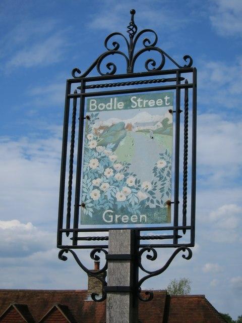 Bodle Street Green village sign