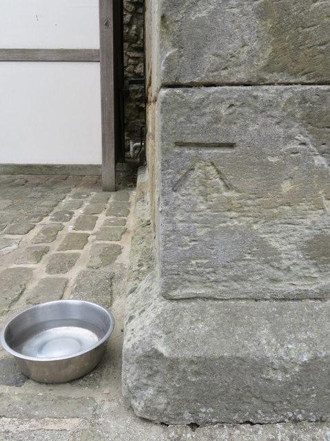 Bench mark on the Master Gunner's House, Scarborough Castle