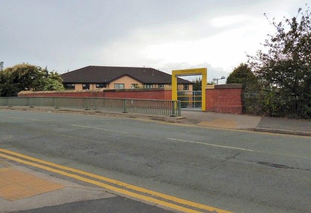 Entrance to St Werburgh's Road Metrolink Tram Stop
