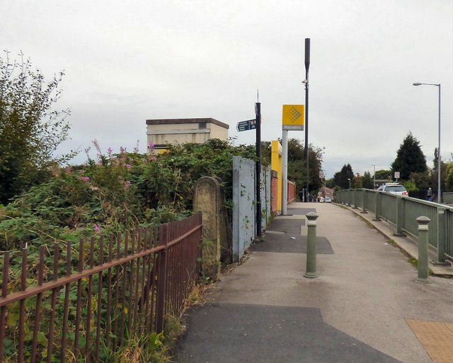 Entrance to St Werburgh's Road Metrolink Tram Stop