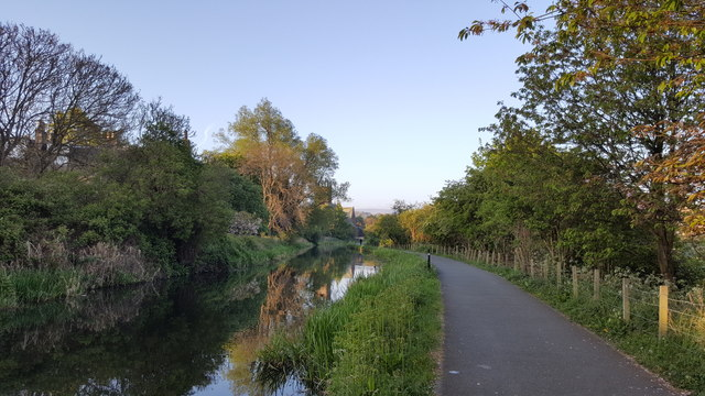 Early morning on Union Canal towpath