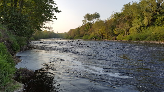 Looking upstream on the River North Tyne