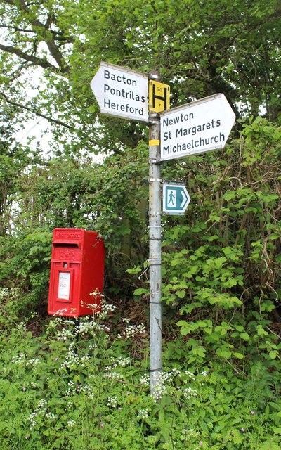 Postbox near Bacton