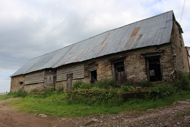 Old barn at Cwmbolouge Farm
