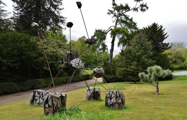 Riverhill Himalayan Garden: Abstract next to the car park