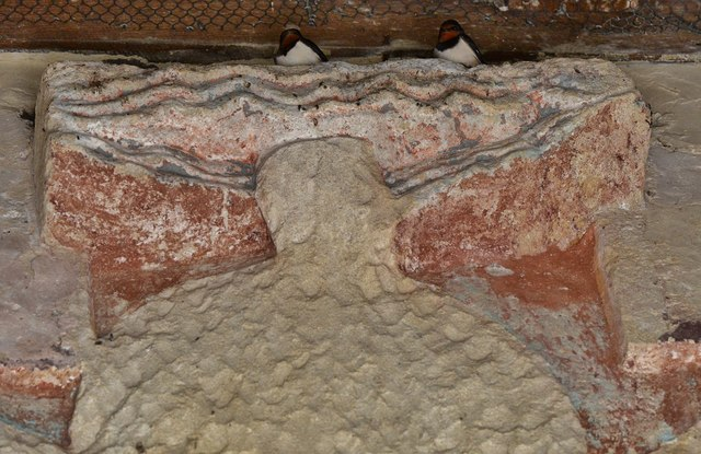 Breamore, St. Mary's Church: The Breamore Rood and two swallows