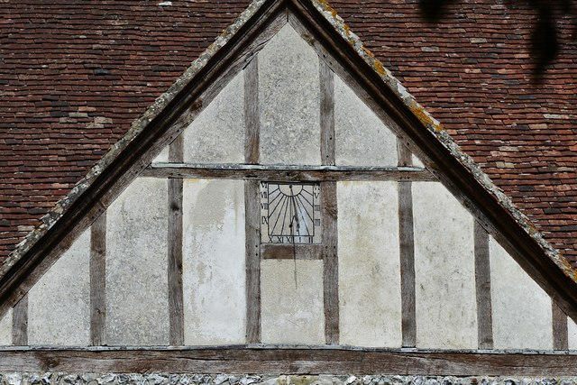 Breamore, St. Mary's Church: Sundial on the south porch
