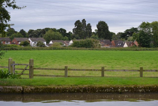 Backs of houses in Ward Grove, Myton, south Warwick